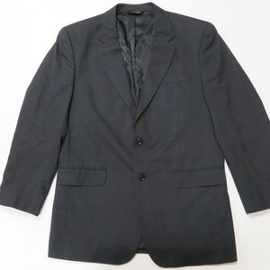 Jos A Bank 44L Black Sport Coat Blazer Suit Jacket